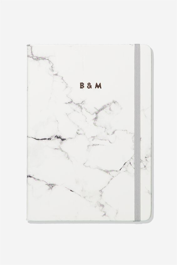 Personalised A4 Buffalo Journal, MARBLE