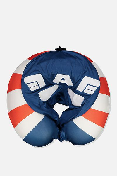 Travel Neck Pillow with Hood, LCN MARVEL CAPTAIN AMERICA