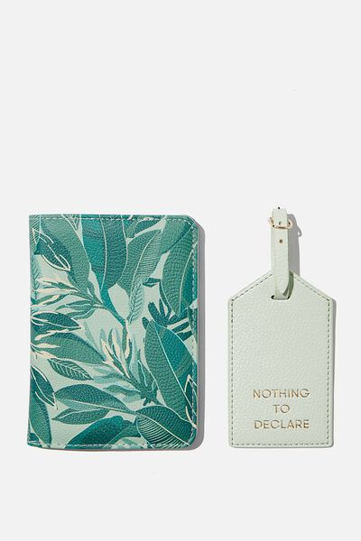 Rfid Passport & Luggage Tag Set, BONDI FOLIAGE W ICICLE