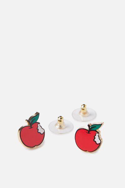 Novelty Earrings, APPLE