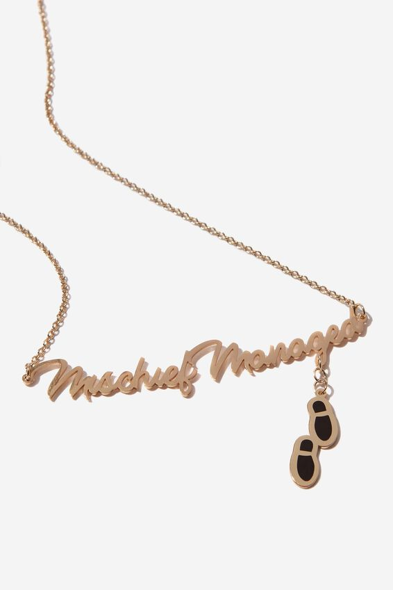 Lcn Novelty Necklace, LCN WB HP MISCHIEF MANAGED