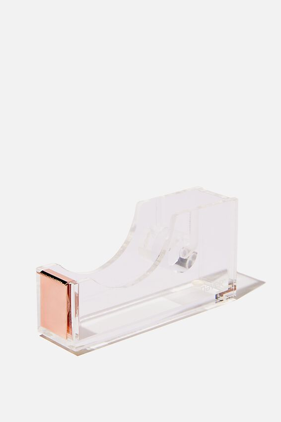 Acrylic Tape Dispenser, HOLOGRAPHIC LETS STICK TOGETHER