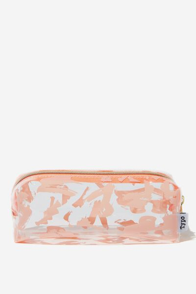 Clear Bailey Pencil Case, PINK SWISH