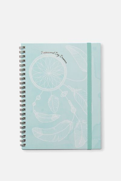 A5 Spinout Notebook - 120 Pages, BLUE MANDALA