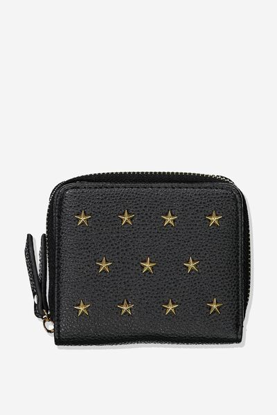 Mini Wallet, BLACK STARS