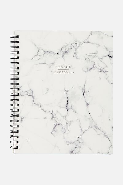 A4 Campus Notebook - 240 Pages, MARBLE MORE TEQUILA!