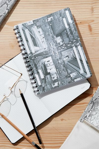 Medium Campus Notebook - 240 Pages, AERIAL CITYSCAPE