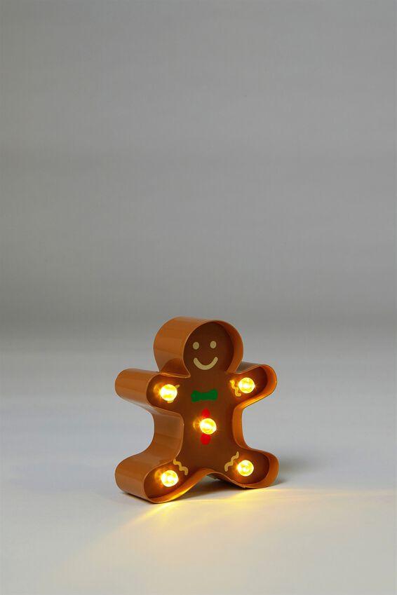 Shaped Mini Marquee Light, GINGERBREAD MAN