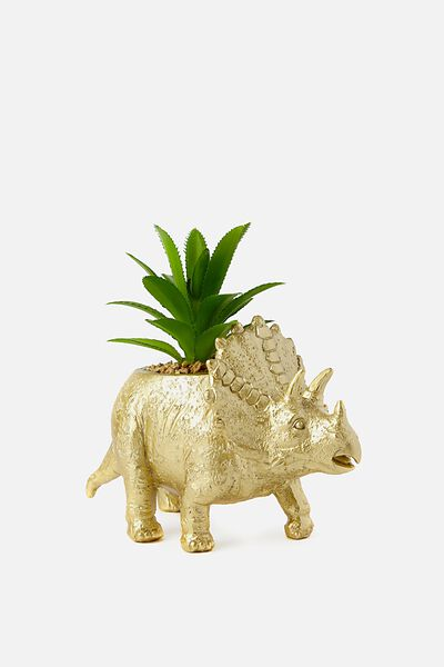 Shaped Planter, TRICERATOPS