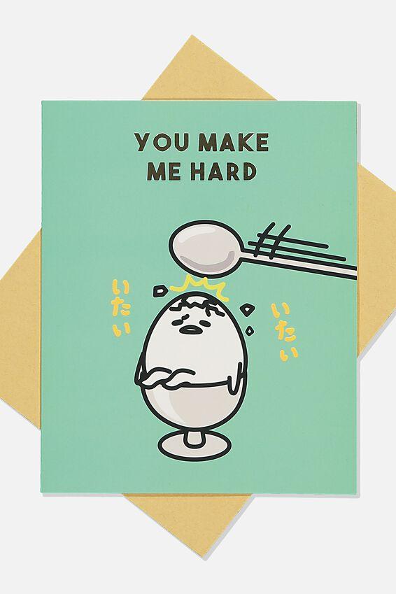 Gudetama Love Card, LCN SAN GUD YOU MAKE ME HARD