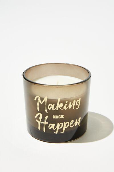 Etched Lid Candle, MAGIC HAPPEN