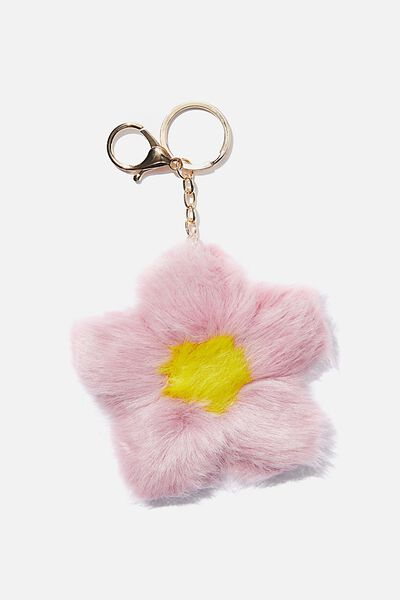 Bag Charm, POM FLOWER HEATHER