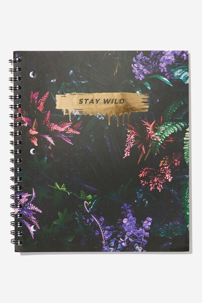 College Ruled Campus Notebook - V, STAY WILD