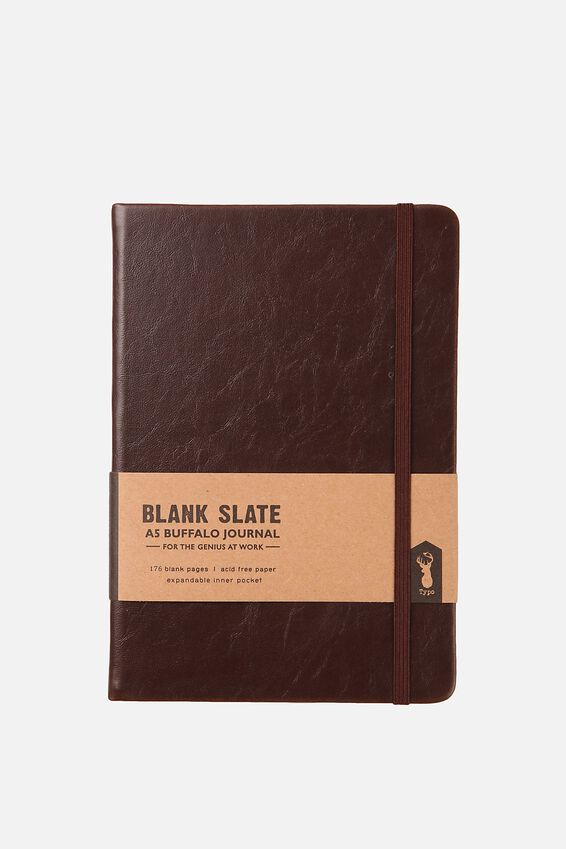 A5 Blank Buffalo Journal, RICH TAN DISC
