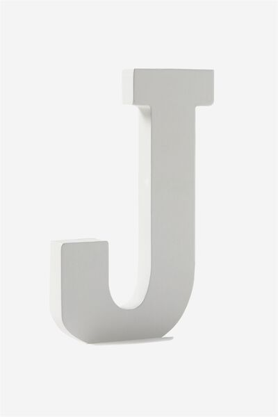 Letterpress Wooden Letter, WHITE J