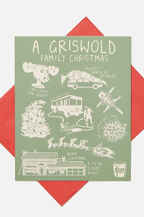 The Griswolds Christmas Card 2020, LCN WB LAMPOONS GRISWOLD ICONS!