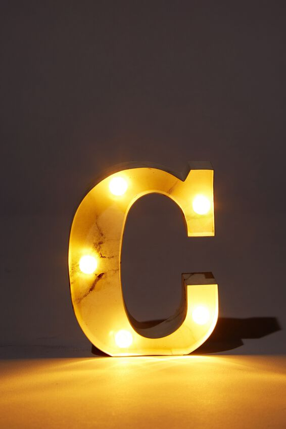 Mini Marquee Letter Lights 10cm, MARBLE C