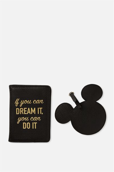Passport Holder & Luggage Tag Set, LCN DREAM IT