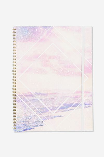 College Ruled Spinout Notebook V, MANDALA OCEAN