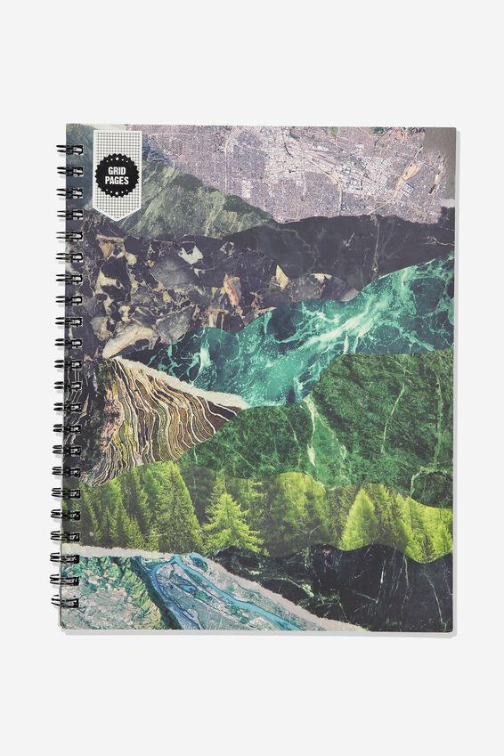 A4 Campus Notebook Grid Internal, WILDERNESS COLLAGE