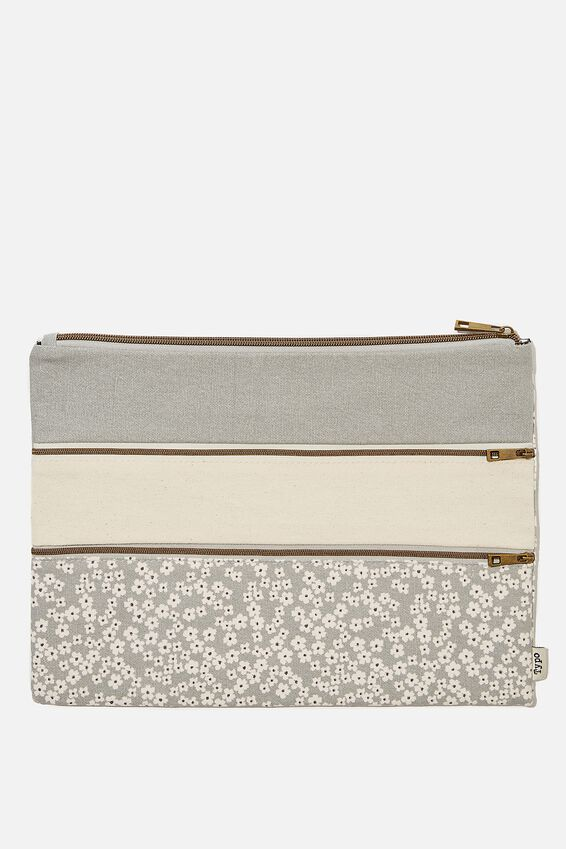 Keep It Together Pencil Case, CHERRY BLOSSOM COOL GREY
