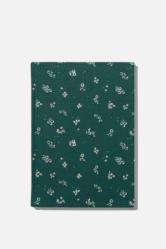 2021 A5 Oxford Weekly Diary, DOTTIE FLORAL DEEP GREEN