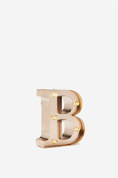 Mini Marquee Letters 10Cm, ROSE GOLD B