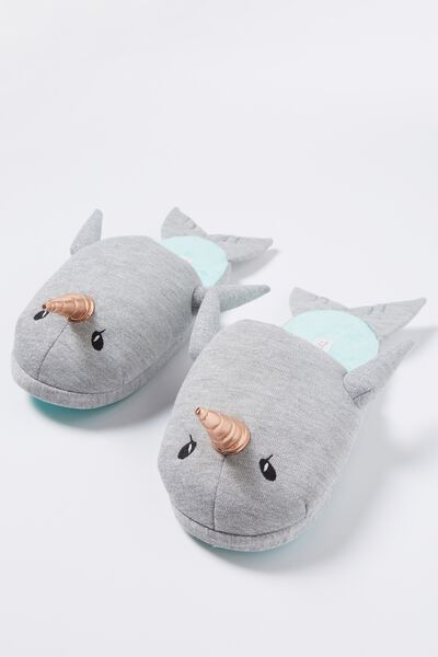 Novelty Slippers, NARWHAL