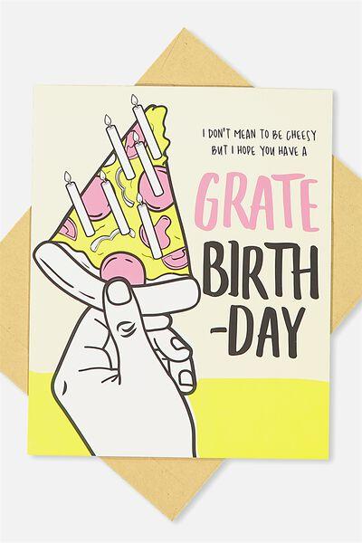 Nice Birthday Card, GRATE BIRTHDAY