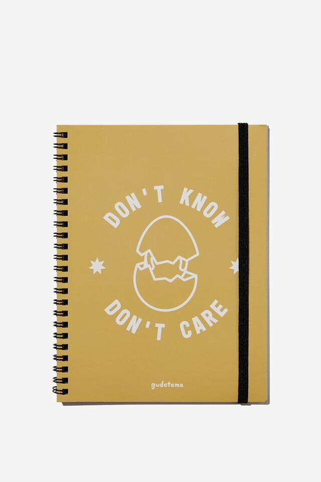 A5 Spinout Notebook Recycled, LCN SAN GU GUDETAMA DON'T KNOW DON'T CARE