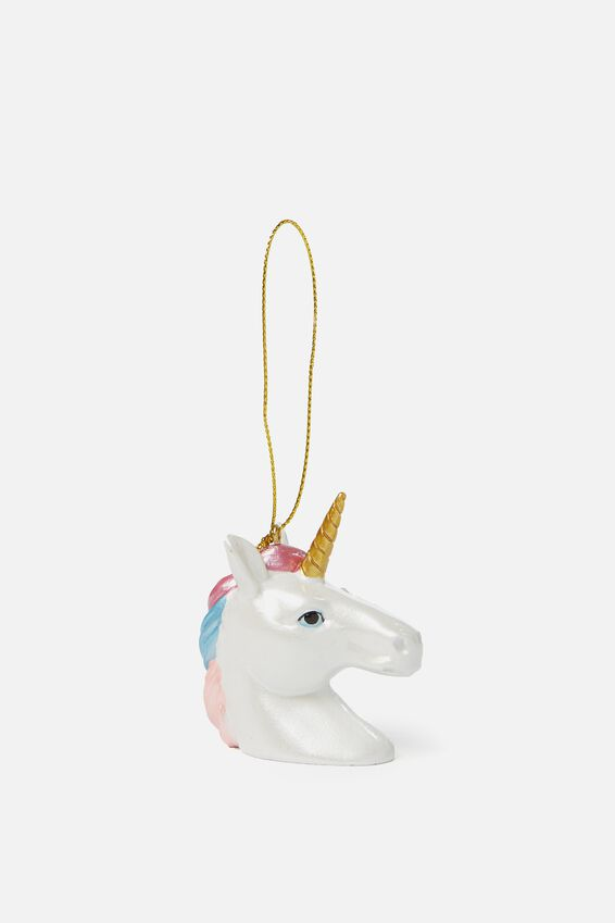 Christmas Ornament, OMBRE UNICORN HEAD