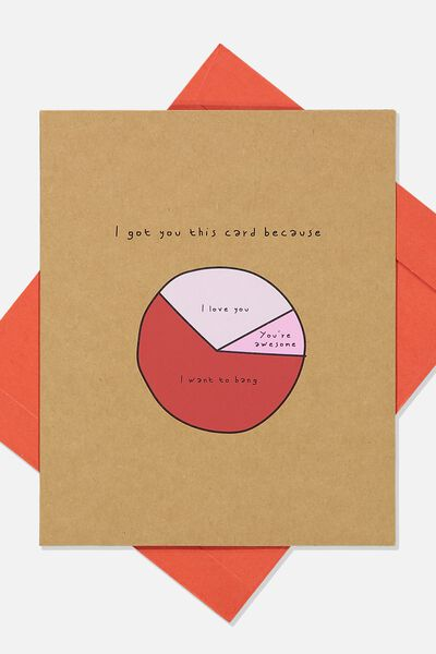 Love Card, LOVE PIE CHART