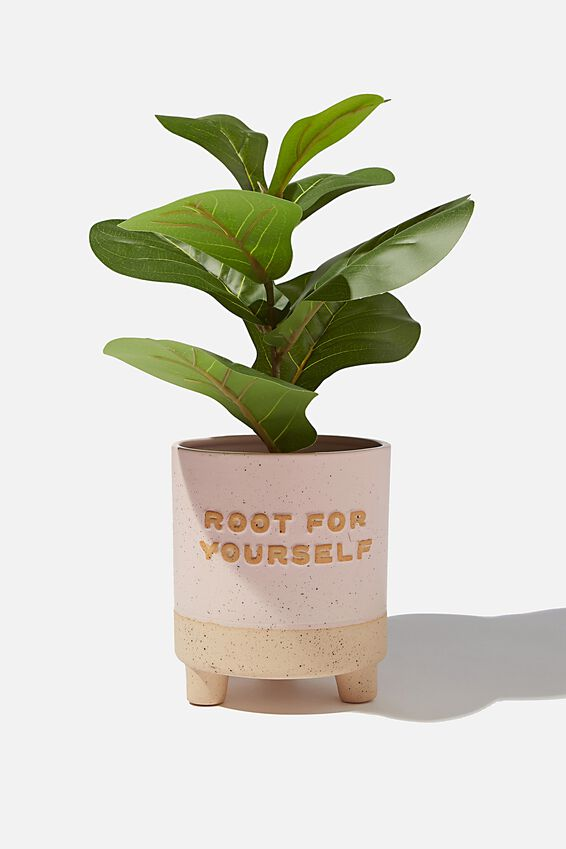 Midi Shaped Planter, ROOT FOR YOURSELF PALE PINK