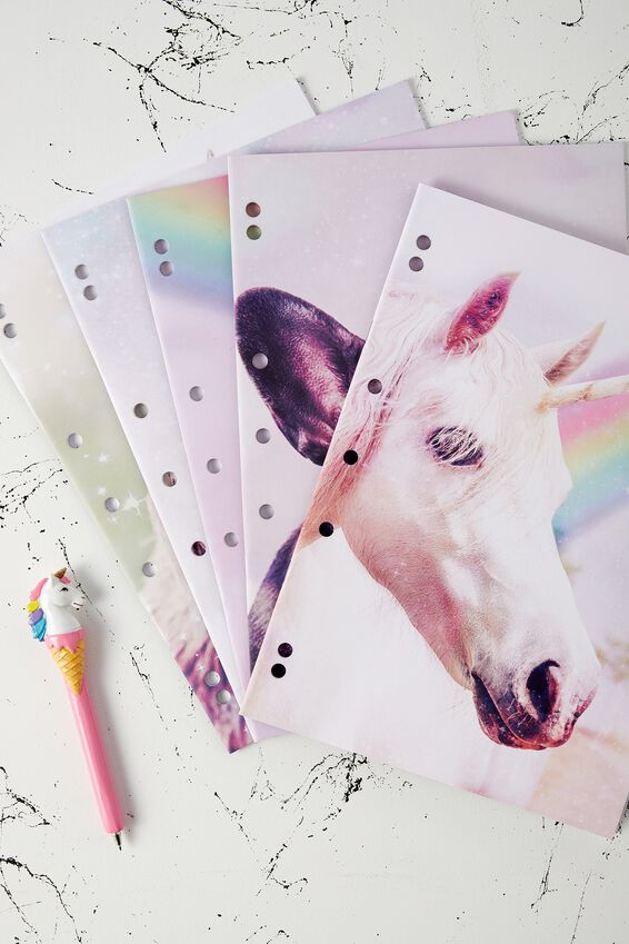 Work It Out Notebook pk 5, ANICORNS