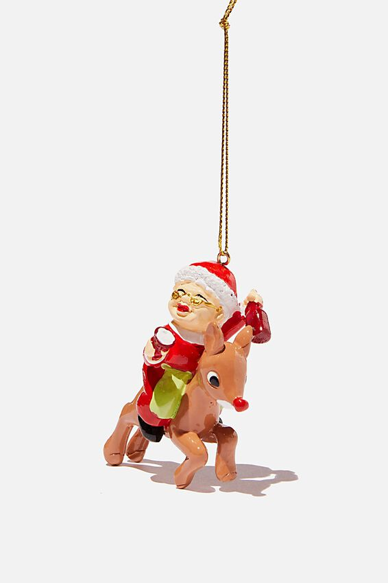 Resin Christmas Ornament, DRUNK MRS CLAUS!