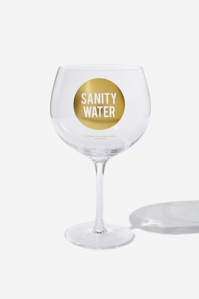 Mega Drinker Glass, SANITY WATER!