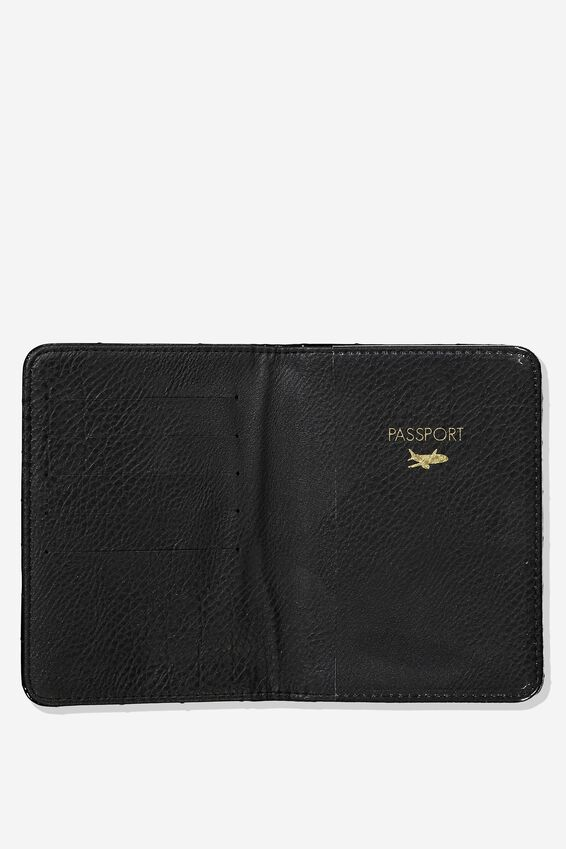 Rfid Passport Holder, PATENT BLACK