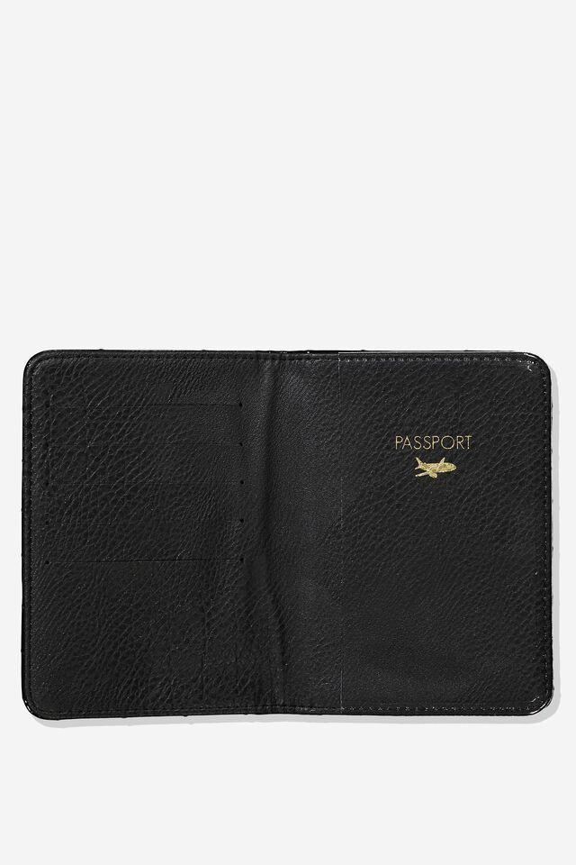 Rfid Passport Holder, PATENT BLACK