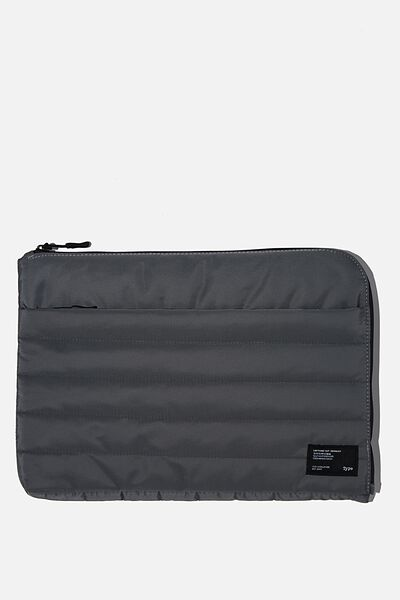 Utility Recycled 13 Inch Laptop Case, WELSH SLATE AND KHAKI