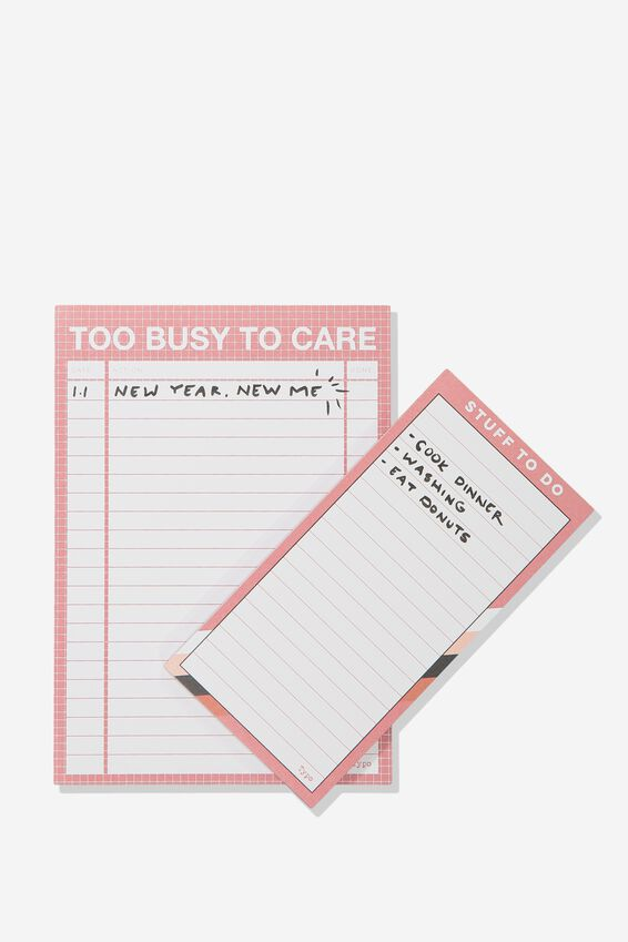 Notepad 2Pk, PINK STRIPE