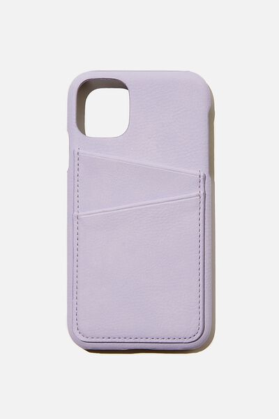 Cardholder Phone Cover Iphone 11, PALE LILAC