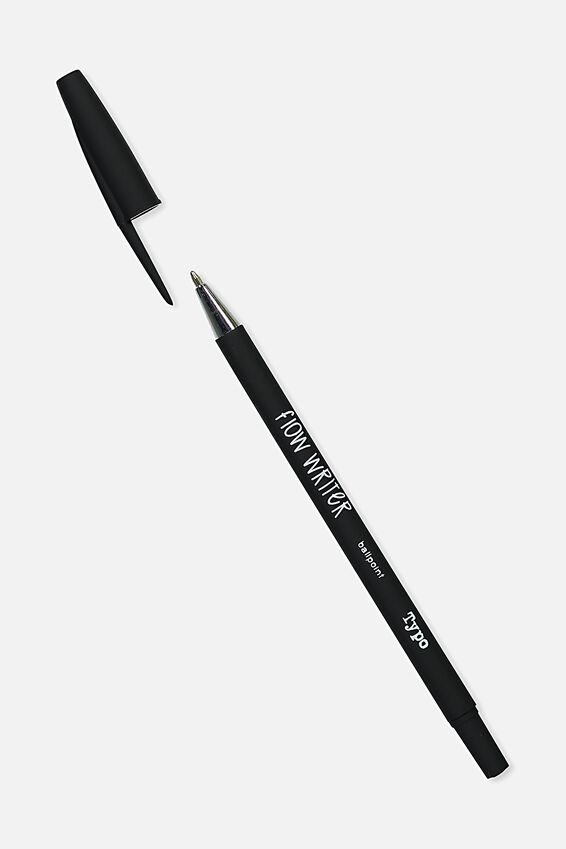 Flow Writer Ballpoint Pen, BLACK
