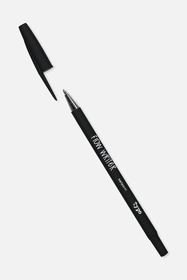 Flow Writer Ballpoint Pen, BLACK