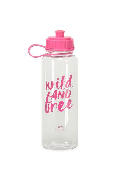 Cl Quencher Drink Bottle, WILD & FREE