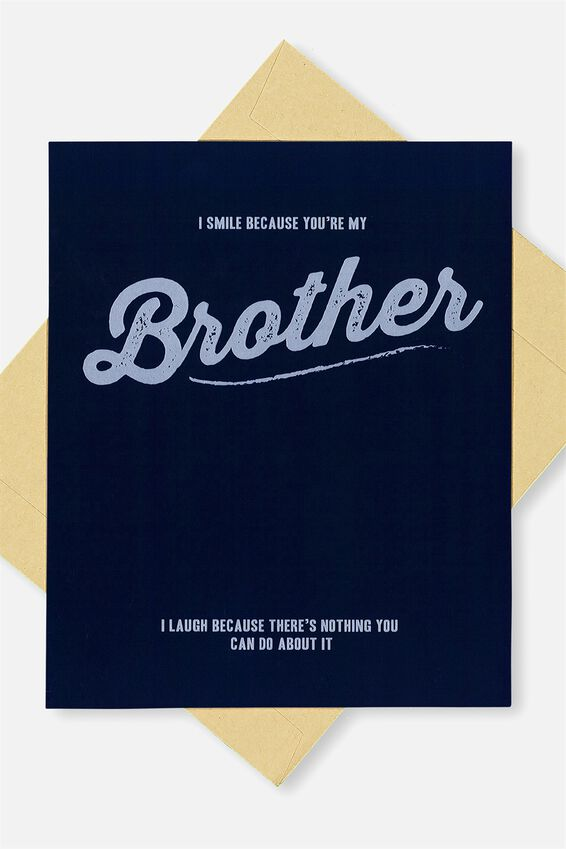 Family Birthday Card, BROTHER LAUGH