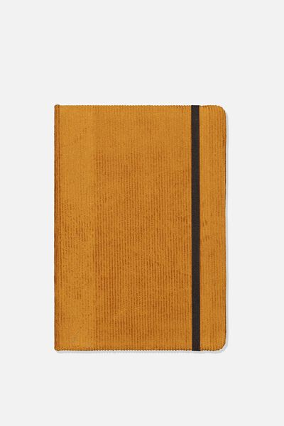 A5 Fabric Undated Daily Diary, TAN CORD