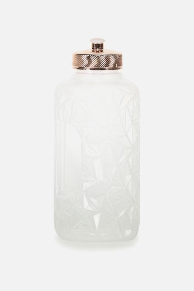 Faceted Drink Bottle, CLEAR