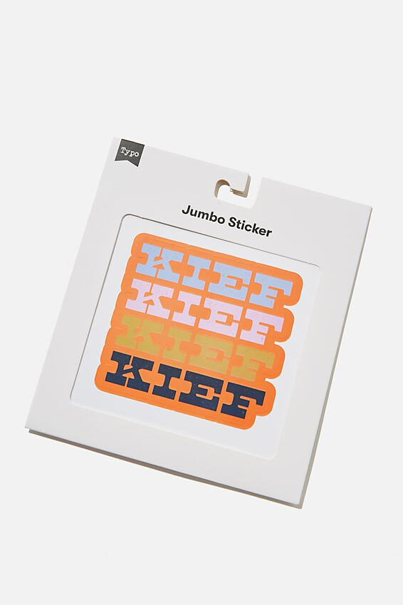 Jumbo Sticker, RG SA KIEF