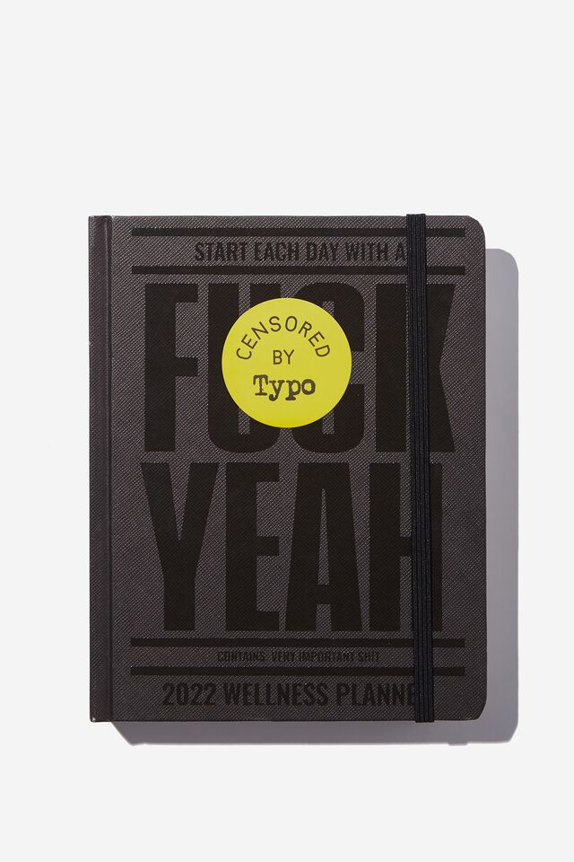 2022 Small Daily Wellness Planner, F*CK YEAH 2022!!