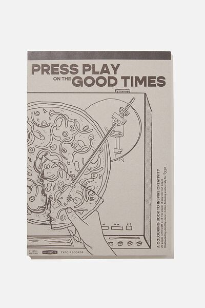 Artists Assistant Colouring In Book, PRESS PLAY